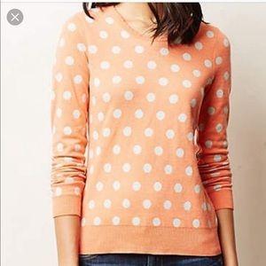 Anthropologie Moth Polka Dots Bluebird Sweater